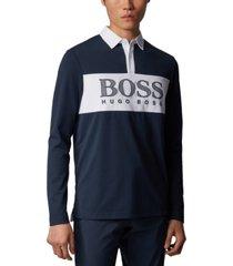 boss men's plisy 1 long-sleeved polo shirt