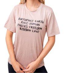 camiseta estampada earth