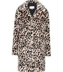 fuskpäls vileosino coat, leopardmönstrad