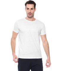 camiseta colombo logo branca - branco - masculino - algodã£o - dafiti