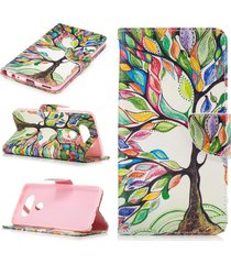 lg v20 case,lg v20 wallet case,xyx [tree of life][double sided design] pu leathe