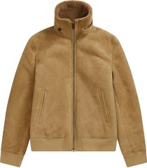 closed shearrling aviator jas camel
