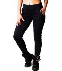 calã§a adamas legging preta com bolsos - preto - feminino - poliã©ster - dafiti