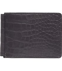 alligator leather money clip wallet