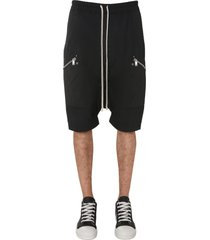 rick owens bermuda with coulisse