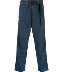 diesel overdyed canvas pants - blue