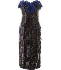 marco de vincenzo pleated bustier dress