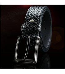 cinturón de hombres, cuero de cuero de los hombres-negro