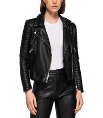 dauntless moto i faux leather quilted biker jacket
