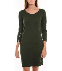 korte jurk vero moda freya 3/4 short dress 97250 vert