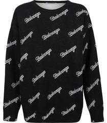 balenciaga signature logo sweater