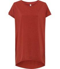 maglia lunga oversize (rosso) - rainbow