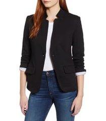 women's gibson notch collar cotton blend blazer