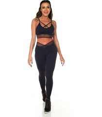calça legging com elástico no cós dily modas 527 preta
