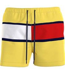 tommy hilfiger zwembroek heren flag - neon geel