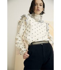 camicetta ricamata gilda cotone bio - collezione donna -