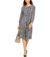jessica howard petite animal-print a-line dress