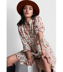 alix the label 2104316142 ladies woven floral a-line mid dress.