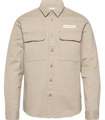 hoxen work shirt overshirts beige woodbird