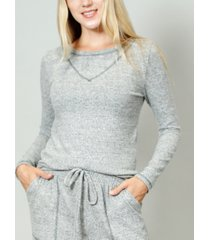 coin 1804 women's cozy contrast stitch long-sleeve t-shirt