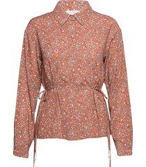 crhany flower shirt overhemd met lange mouwen roze cream
