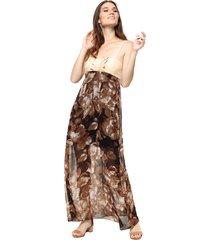 vestido marrón donadonna