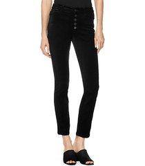 hoxton high-rise velvet ankle jeans