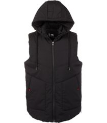 american stitch men's hooded puffer vest