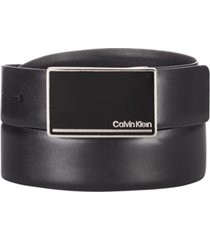 calvin klein men's signature buckle leather belt