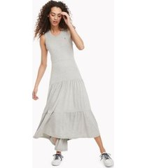 tommy hilfiger women's essential sleeveless maxi dress stone grey heather - xl