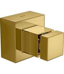 """acabamento de registro cubo gold 1 e 1/2"""" - 4900.gl86.gd - deca - deca"""