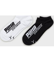 puma logo sneaker 2p strumpor black/white