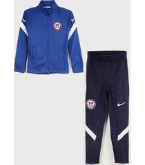 conjunto nike chi y nk df strke trk suit k azul - calce regular