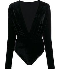 alchemy v-neck bodysuit - black