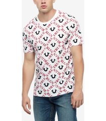 true religion men's monogram all over print t-shirt