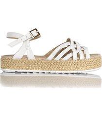 sandalia de mujer blanca cosmos