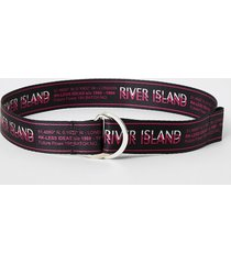 river island girls black ri d-ring belt