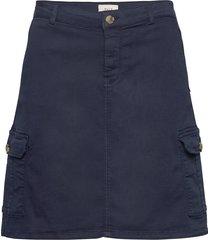 pzkarolina skirt kort kjol blå pulz jeans