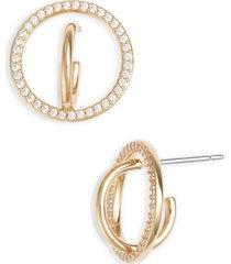 women's nadri cubic zirconia hoop earrings