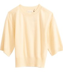 hao short sleeve sweater in light yellow