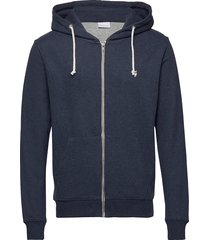 basic hood sweat - gots/vegan hoodie trui blauw knowledge cotton apparel