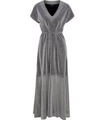 maxiklänning moa silver dress