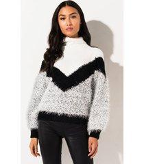 akira winter time vibe chevron sweater