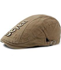 uomini vintage classic berretto in cotone con ricamo berretto retrò casual da esterno regolabile antivento caldo cappelli