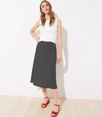 loft petite ottoman striped pull on midi skirt