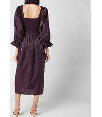 baum und pferdgarten women's adanna dress - plum perfect - eu 40/uk 12