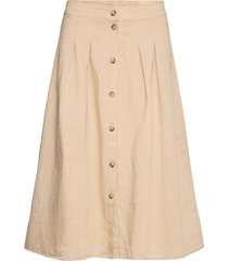 skirts light woven knälång kjol beige esprit casual