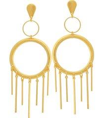 brinco dona diva semi joias maxi dourado