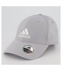 boné adidas baseball logo cinza