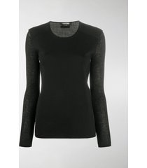 tom ford layered-effect knitted top